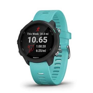 Garmin Forerunner 245 Music, GPS Running Smartwatch with Music and Advanced Dynamics, Aqua for $340