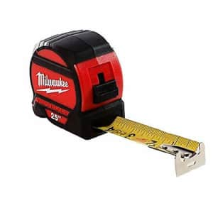 Milwaukee 48-22-7525 25 ft. Wide Blade Tape Measure for $36