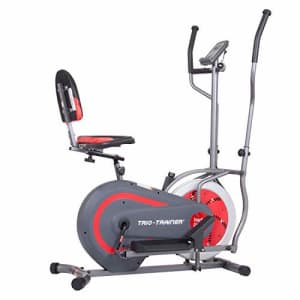 Body Power 3-in-1 Exercise Machine, Trio Trainer, Elliptical and Upright/Recumbent Bike for $245