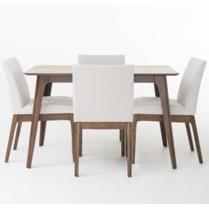 """Noble House Kwame 50"""" 5-Piece Dining Set for $479"""