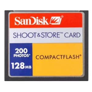 Sandisk 128MB Shoot and Store Cf Card for $19
