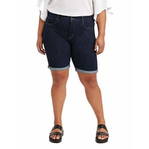 Levi's Women's Plus-Size Shaping Bermuda Shorts, Royal Rinse - Dark Indigo, 40 (US 20) for $15