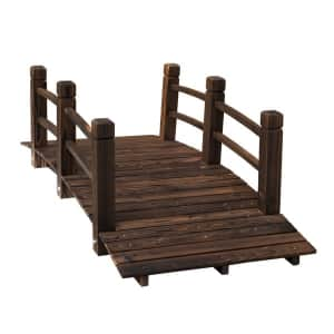 Outsunny 5-Foot Wooden Arched Garden Bridge for $107