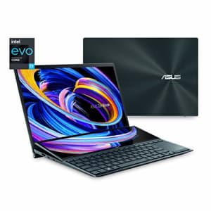 """Asus ZenBook Duo Dual Screen Laptop, 14"""" FHD Touch Display, ScreenPad Plus, Intel Core i7-1165G7 for $1,240"""