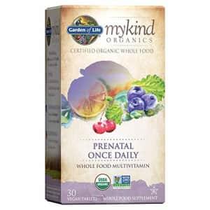 Garden of Life mykind Organics Prenatal Vitamins - 30 Tablets, Prenatal Once Daily Whole Food for $29
