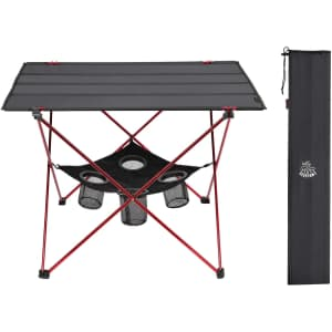 Deerfamy Camping Table with Cup Holder for $24