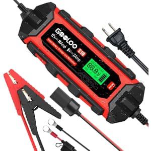 Gooloo S10 10-Amp 6V/12V Smart Car Battery Charger for $80