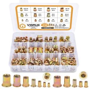 Vigrue 230-Piece SAE & Metric Rivet Nut Set for $11