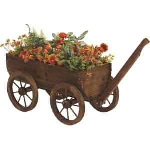 """45"""" Fir Wood Wagon Garden Planter for $80"""