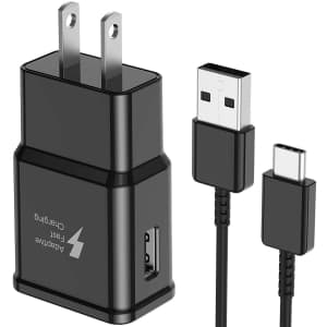 Aitaton Adaptive Fast Wall Charger w/ USB Type C to A Cable for $6