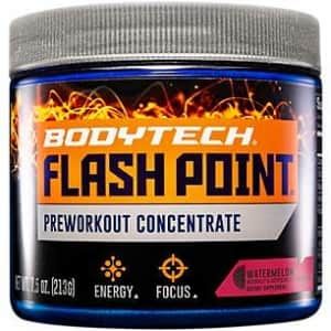 BodyTech Flash Point Pre Workout Concentrate for Energy, Focus Stamina, Watermelon (201 Grams for $28