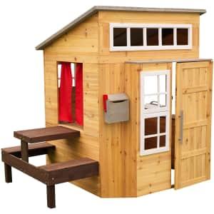 KidKraft Modern Outdoor Wooden Playhouse for $450