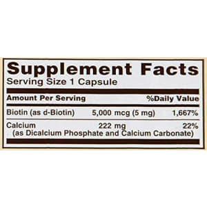 Sundown Naturals Sundown, Biotin 5000 Mcg Capsules, 60 ct for $18