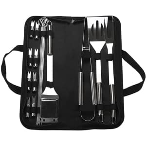 Ghjall 20-Pc. BBQ Grill Tool Set for $14