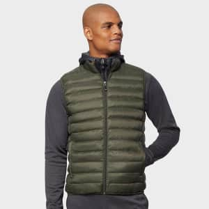 32 Degrees Men's Lightweight Recycled Poly-Fill Packable Vest for $20