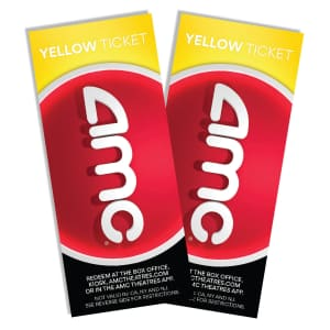 AMC Yellow Tickets 2-Pack for $18 for members