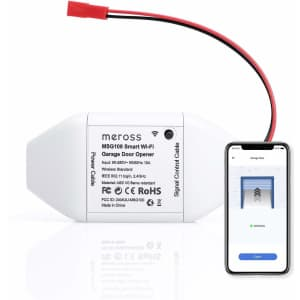 Meross Smart WiFi Garage Door Opener Remote for $35