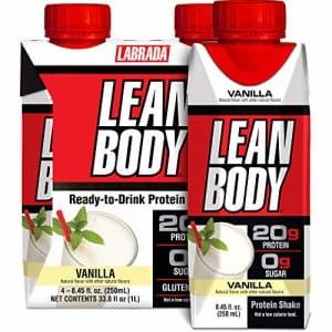 Labrada Nutrition Lean Body Ready-to-Drink Vanilla Protein Shake, 20g Protein, Whey Blend, 0 Sugar, Gluten Free, 22 for $15