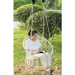 Playberg Round Hanging Hammock Swing Chair for $67