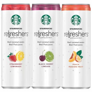 Starbucks 12-oz. Refreshers with Coconut Water Can 12-Pack for $15 w/ Prime