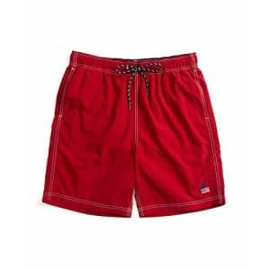"Nautica Men's 8"" American Flag Logo J-Class Swim Shorts, Red, X-Large for $50"