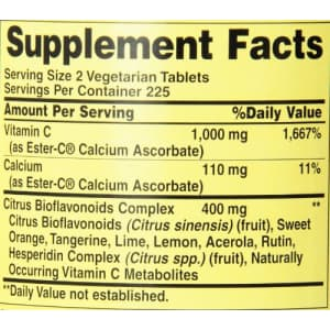 American Health Ester-C with Citrus Bioflavonoids Vegetarian Tablets - Gentle On Stomach, for $33