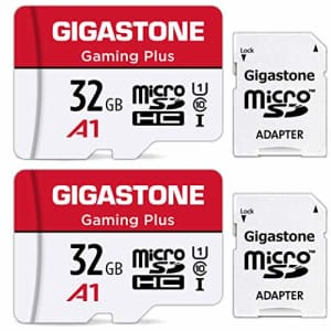 Gigastone 32GB 2-Pack Micro SD Card, Gaming Plus, High Speed 90MB/s, Full HD Video Recording, Micro for $20