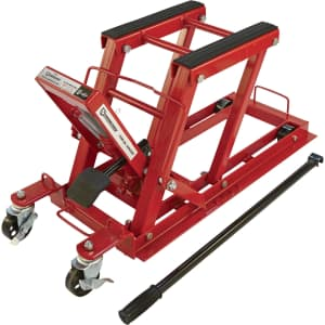 Strongway 1500-lb. Hydraulic Motorcycle Lift/Utility Vehicle Lift for $110
