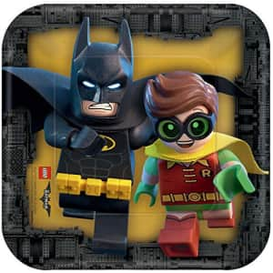 American Greetings Lego Batman Party Supplies, Disposable Paper Dessert Plate, 8-Count for $5