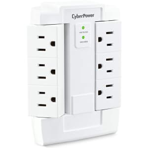 CyberPower 6-Outlet Swivel Surge Protector for $9