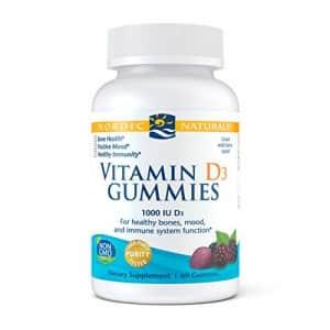 Nordic Naturals Vitamin D3 Gummies, Wild Berry - 1000 IU Vitamin D3-60 Gummies - Great Taste - for $17