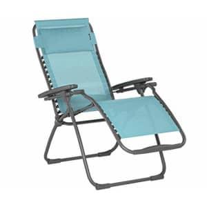 Lafuma Futura Zero Gravity Patio Recliner (Lac Blue Batyline Canvas) Outdoor Folding Lounge Chair for $215