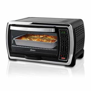 Oster Toaster Oven | Digital Convection Oven, Large 6-Slice Capacity, Black/Polished Stainless for $110