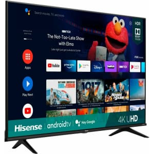 """Hisense A6G Series 50A6G 50"""" 4K HDR LED UHD Android Smart TV (2021) for $346"""