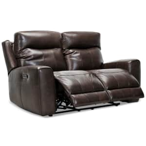 """Bitola 61"""" Top Grain Leather Dual Power Reclining Loveseat for $1,160"""