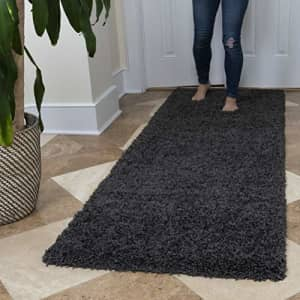 Ottomanson Soft Cozy Color Solid Shag Runner Rug Contemporary Hallway and Kitchen Shag Runner Rug, for $149