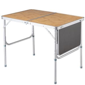 Giantex Portable Aluminum Folding Table Patio Outdoor Picnic Lightweight Indoor Outdoor Party with for $60