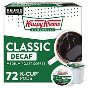Krispy Kreme Classic Decaf, Single-Serve Keurig K-Cup Pods, Medium Roast Coffee, 72 Count for $40