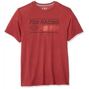 Fox Head Fox Men's Global Short Sleeve TECH T-Shirt, Heather Red, S for $24