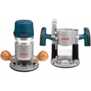 Bosch 12A Plunge and Fixed-Base Router Kit for $159