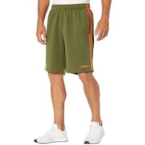 adidas Men's Standard Essentials 3-Stripes Shorts, Wild Pine, Large for $55