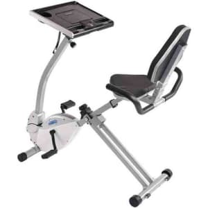Stamina 2-in-1 Recumbent Exercise Bike Workstation and Standing Desk for $169 for members