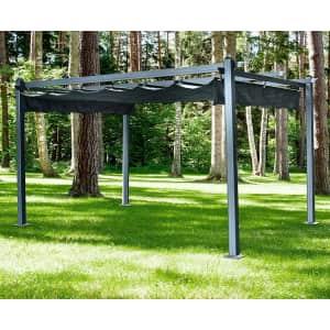 Hanover 13x10-Ft. Aluminum Pergola w/ Adjustable Canopy for $649