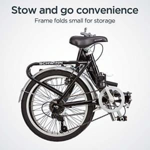 Schwinn Loop Adult Folding Bike, 20-inch Wheels, 7-Speed Drivetrain, Rear Carry Rack, Carrying Bag, for $395