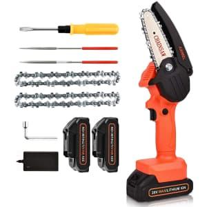 "Juemel 4"" 20V Mini Chainsaw for $59"