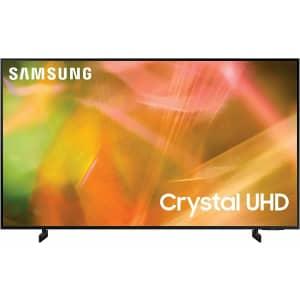 "Samsung UN50AU8000 50"" 4K HDR LED UHD Smart TV for $465"