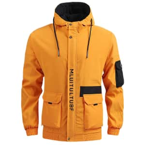 Men's Lightweight Thermal Hooded Jacket for $18