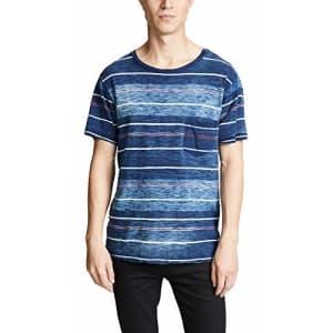 RVCA Men's Rusholme Striped T-Shirt Blue XX-Large for $29