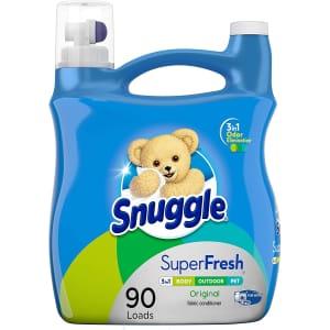 Snuggle Plus Super Fresh Liquid Fabric Softener 90-Load Jug for $8