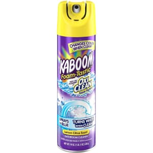 Kaboom Foam Tastic Bathroom Cleaner with OxiClean for $4
